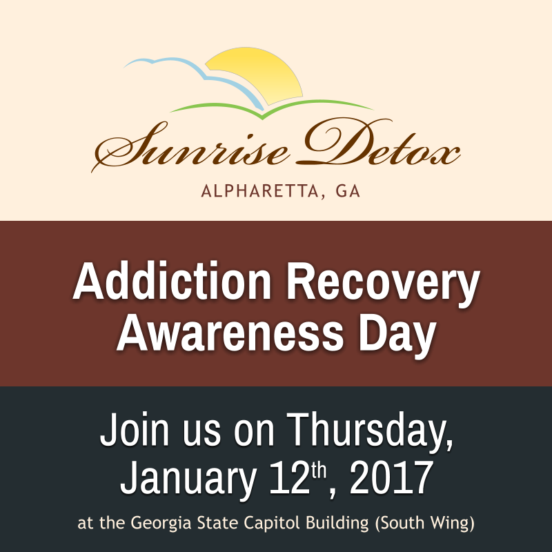 Join Sunrise Detox Atlanta for the 2017 Addiction Recovery Awareness Day!