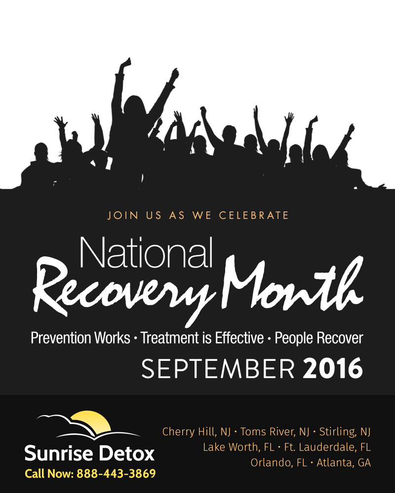 Join Sunrise Detox as We Celebrate National Recovery Month during September.